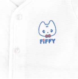 FIFFY EMBROIDERY LOGO LONG SLEEVE VEST + LEGGY SUIT