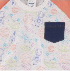 FIFFY SPACE FULL PRINT T-SHIRT SUIT