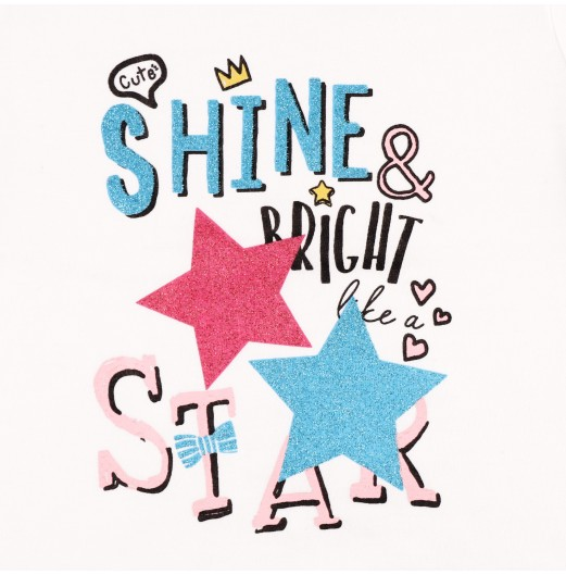 FIFFY SPACE SERIES SHINE & BRIGHT STAR SHORT SLEEVE + LONG PANT GIRL SUIT