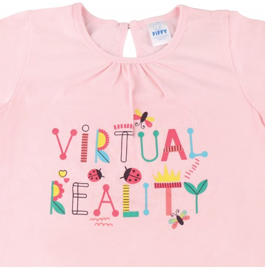 FIFFY VIRTUAL REALITY SHORT SLEEVE GIRL PYJAMAS SUIT