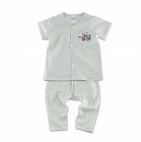 FIFFY LITTLE BABY RACCOON SHORT SLEEVE VEST + LONG PANT SUIT