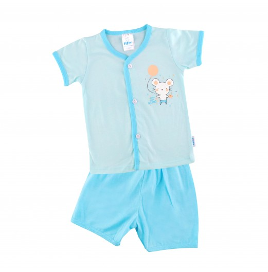 FIFFY HAPPY DAY IN LIFE SHORT SLEEVE VEST SUIT