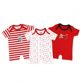 FIFFY DADDY AND SON 3 IN 1 SHORT PANT BOY ROMPER SET