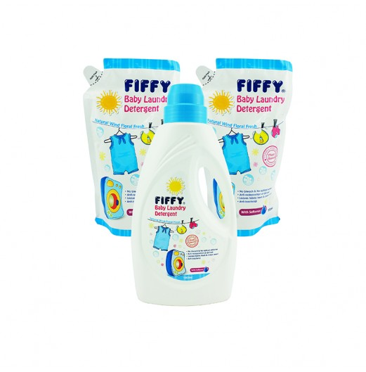 LAUNDRY DETERGENT - Fiffy Baby Laundry Detergent Value Pack (1 BTL + 2 Refill)