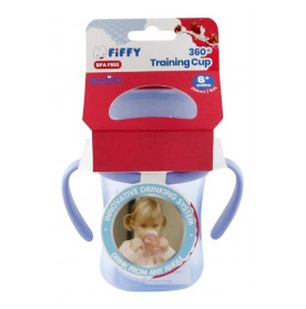 FIFFY 360 TRAINING SQUARE SHAPE CUP 250ML 98-627