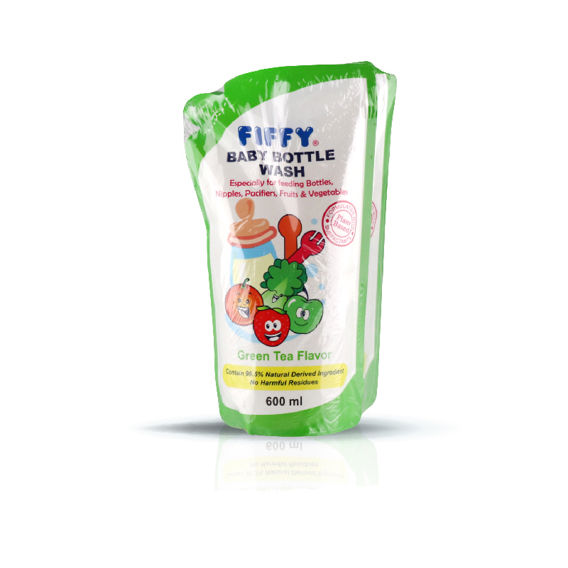 FIFFY BOTTLE WASH REFILL PACK GREEN TEA FLAVOR (600ML)
